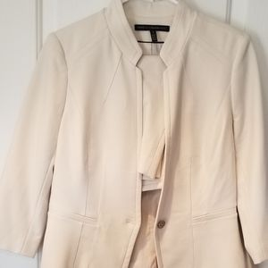 Cream skirt suit
